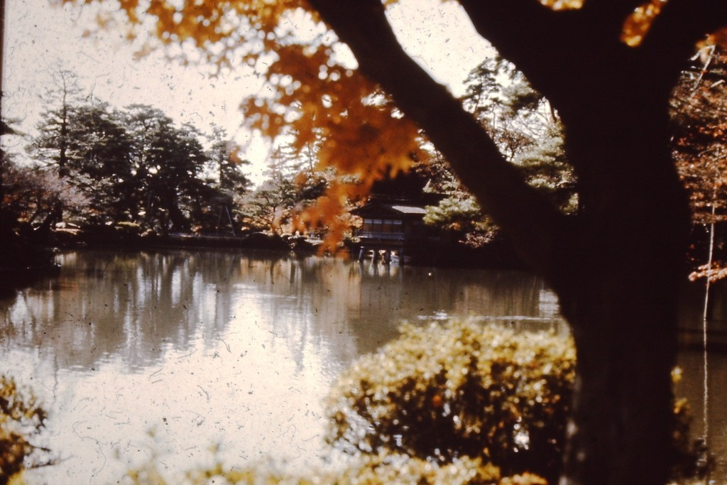 Ken-roku Park in Kanazawa. One of Japan's most famous garden parks (ca. 1976)