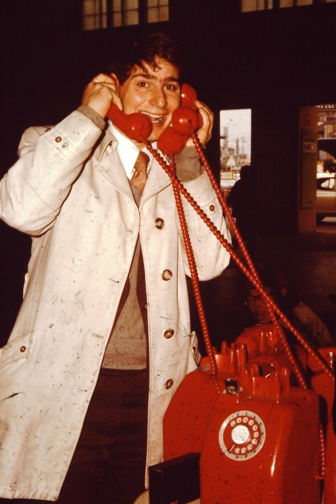 A busy missionary....no cell phones back then.  Just Japanese pay phones. (ca. 1978)