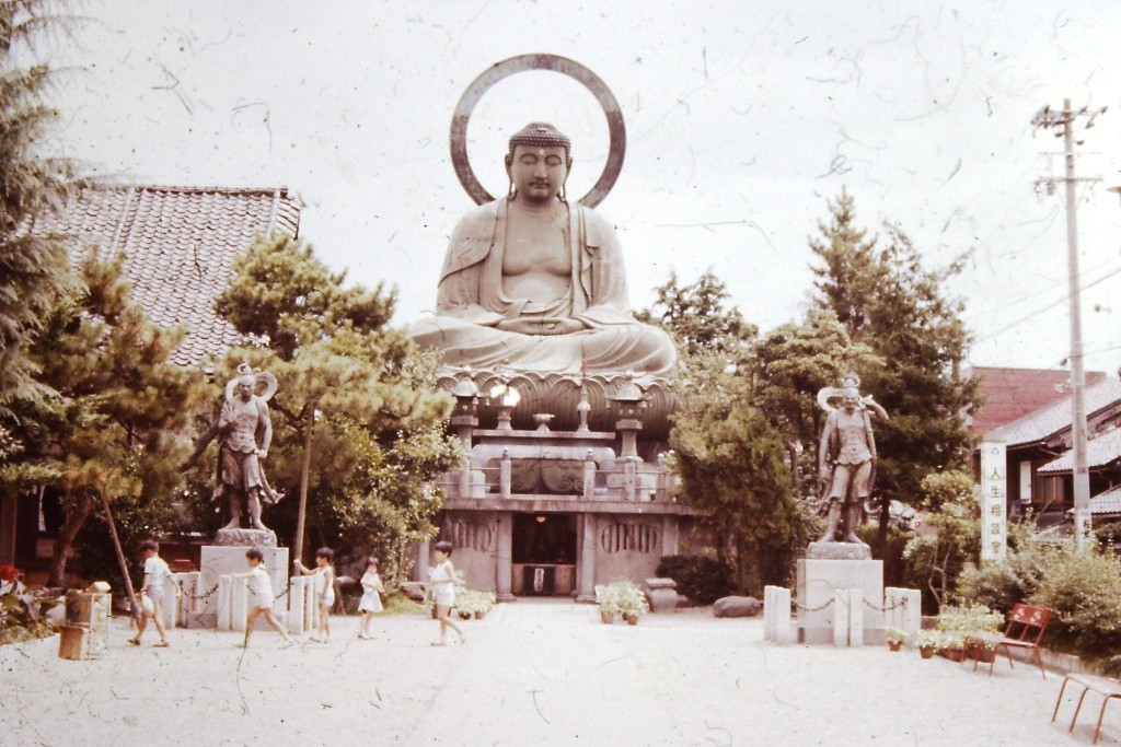 Another view of the Large Buddha statue in Takaoka, Japan.