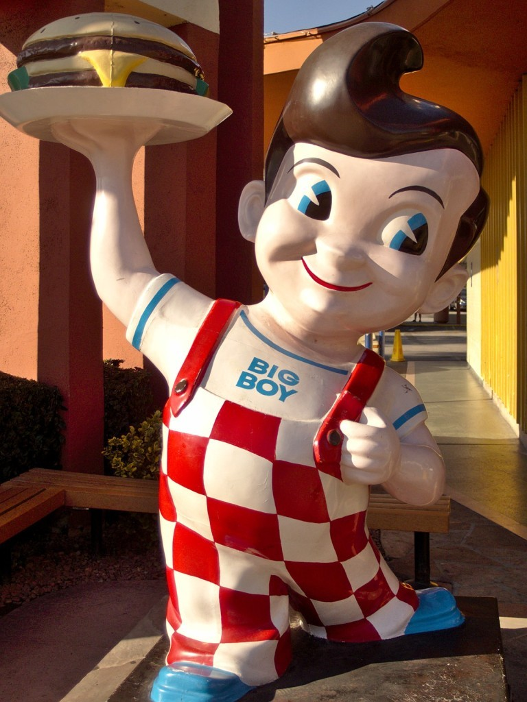 Big Boy statue in the West can be seen at Bob's and JB's
