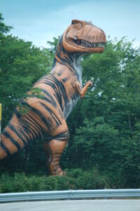Giant T-Rex statue in Cave City, KY
