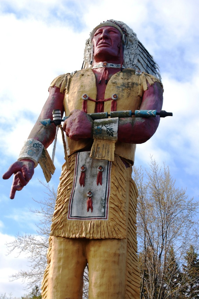 Hiawatha Stands 50 feet tall in Ironwood, MI