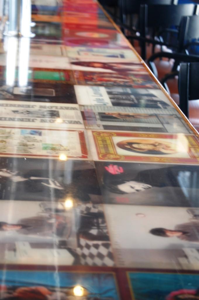 Album Counter at LSA Burger Co.