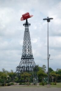 The Paris, TX Eiffel Tower replica.