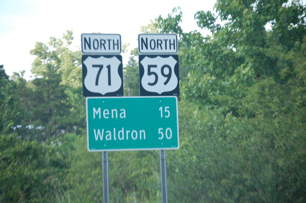 US Hwy 71/59 north of Cove, AR