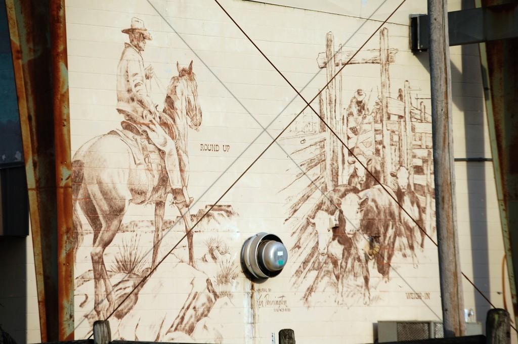 Large Wall Mural at Cattlemen's Livestock Market in Glenwood, AR