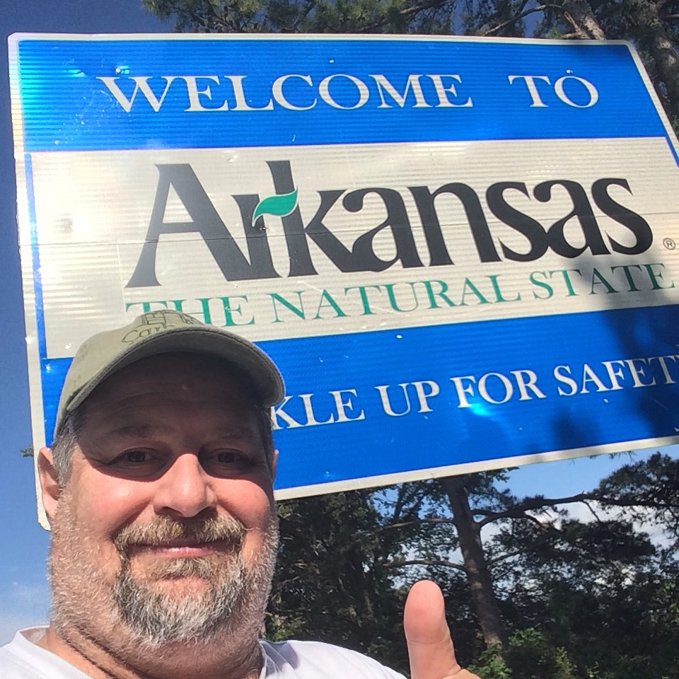 Welcome to Arkansas about 3 miles west of Cove, Arkansas