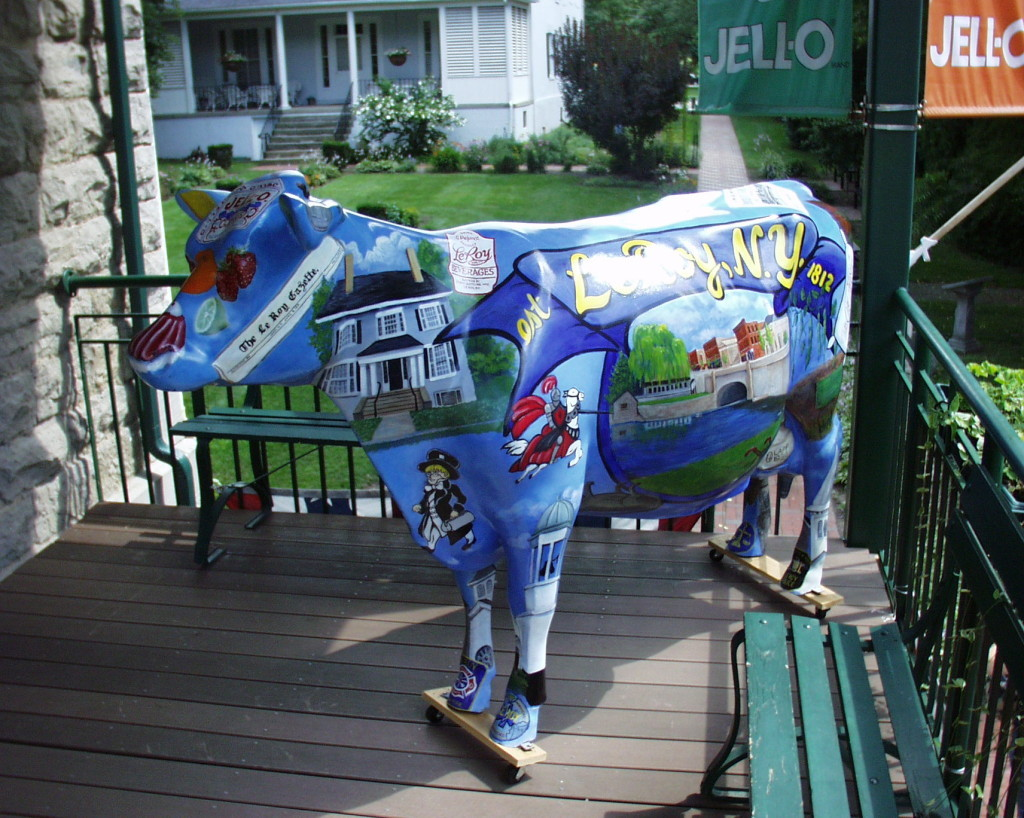 The JELLO Cow at the JELLO Museum in Leroy, NY