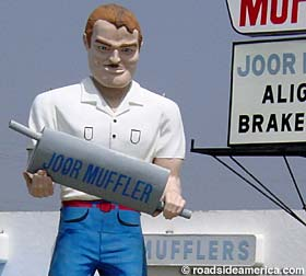 The Old Muffler Man - (photo courtesy Roadside America - used with permission)