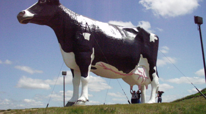 Fiberglass Giants Part II: Giant Cows, Pink Elephants and More