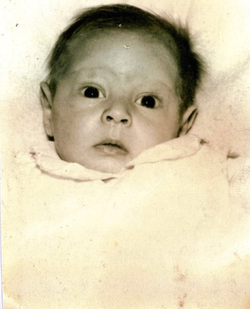 My earliest baby photo as provided to me by my sister Nicole.  This was taken in Oct. 1956