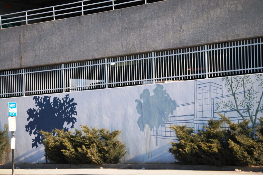 Wall art on UK Parking Structure