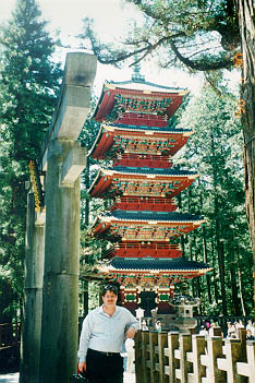 The colorful pagoda in Nikko