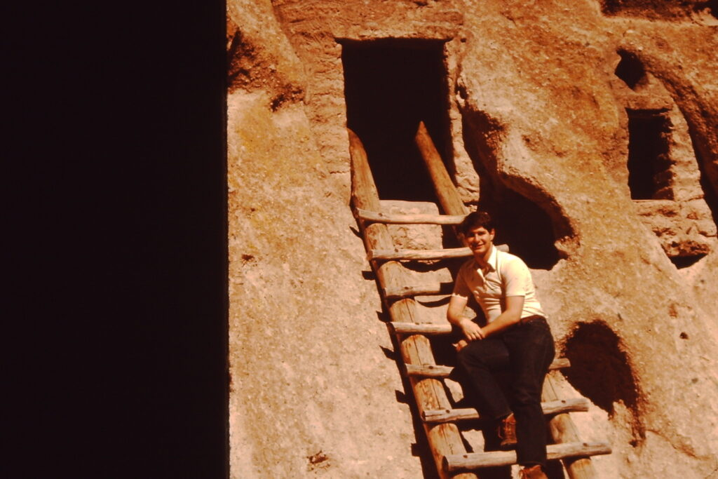 Visiting Bandelier National Monument near Los Alamos, New Mexico in 1979.  I have always enjoyed visiting old Indian ruins.