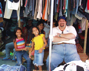 Visiting the shopping area in Carbon, Cebu, Philippines