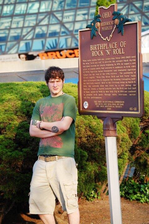 The birthplace of Rock & Roll in Cleveland, OH (with my son Solomon)