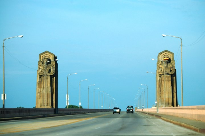 Guardians on Hope Memorial Bridge in Cleveland