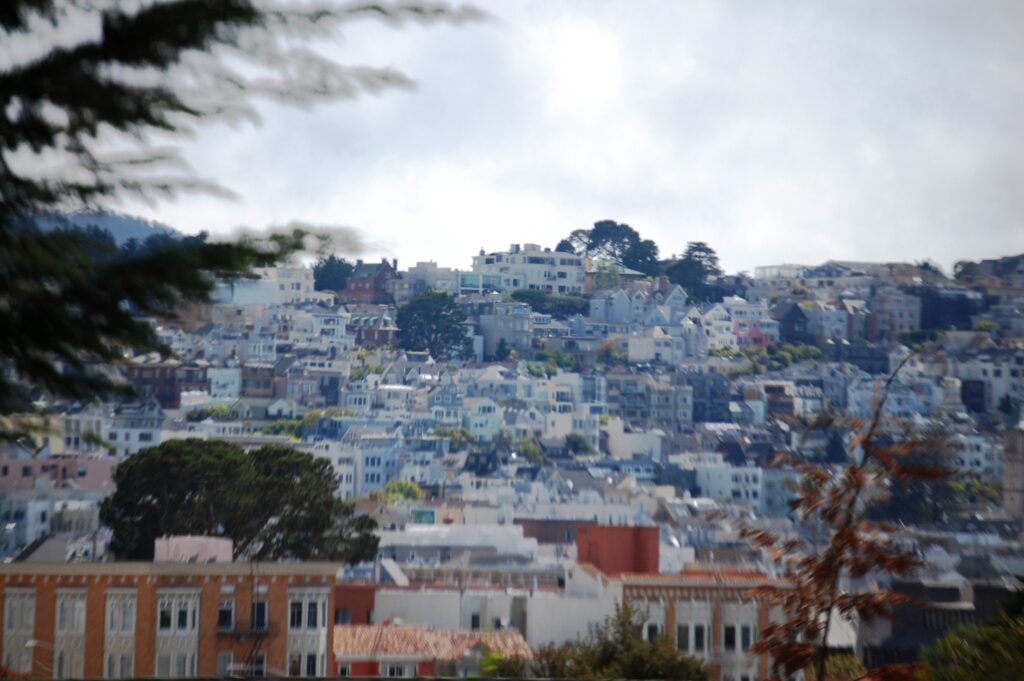 Buildings upon buildings in the Presidio District of San Francisco