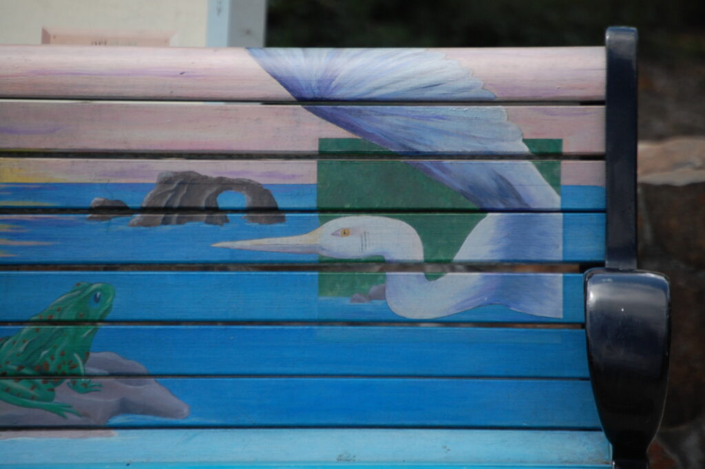 Detail of Park Bench at Prince Gateway