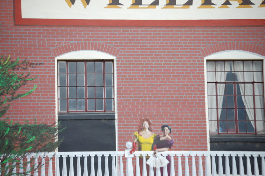 Second story portion of the Williams Hotel Mural in Williams, CA