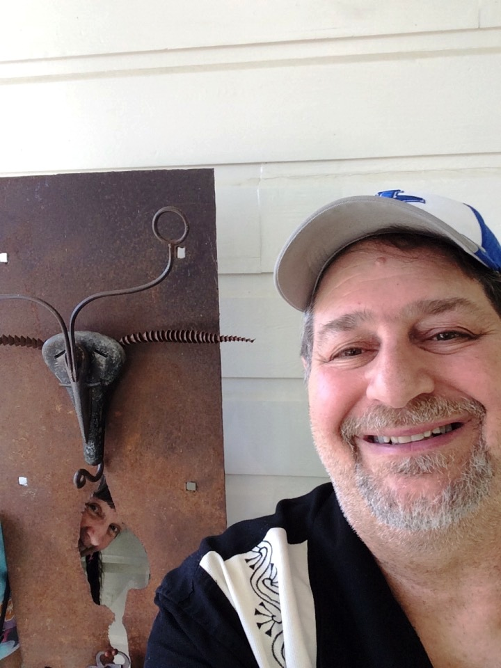"""Carla photo bombs me on my selfie of Terry Church's """"Moth to a Flame"""""""