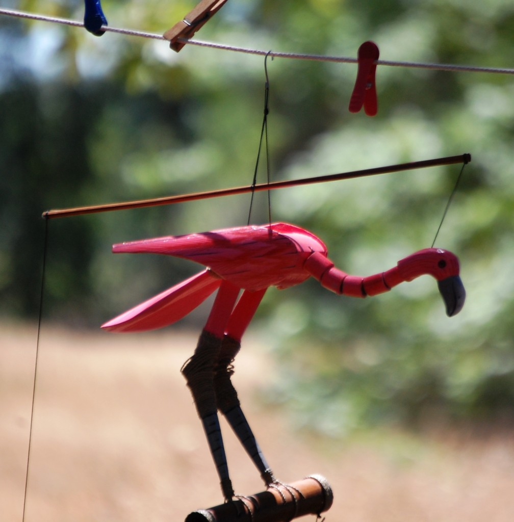 Flamingo ornaments abound at Woodflock