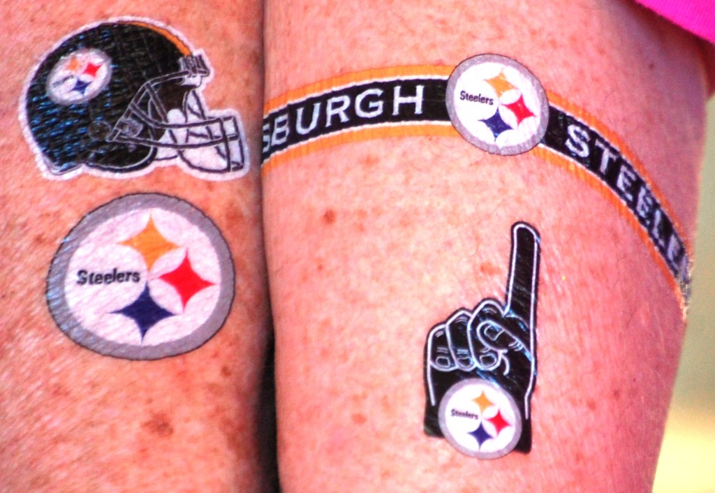 Pittsburgh Steelers Tattoos... (yes, from lyrics of a song)
