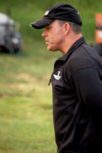 Former Navy SEAL and Training Gurui John MacLaren leads morning exercises