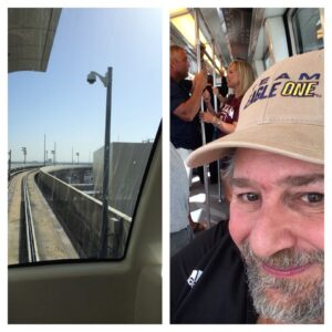 Riding the Skylink Monorail at DFW Airport