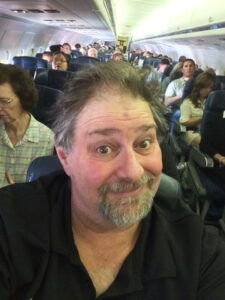 Leaving on a jet plane from Louisville for Dallas.  Bulkhead seat!
