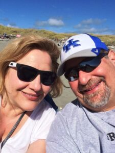 Julianne and David on the Beach in Washington