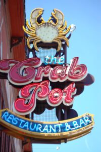 The Crab Pot...one of many eating establishments on the Seattle Waterfront
