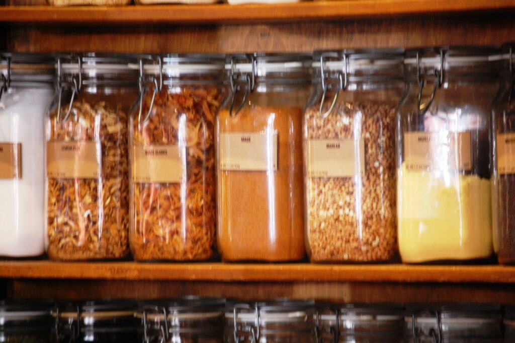 Spices on the Wall at the World Spice Market