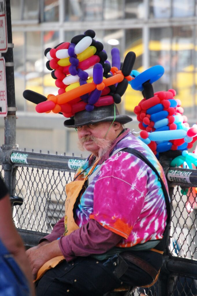 A Balloon Man at Pike Place Market