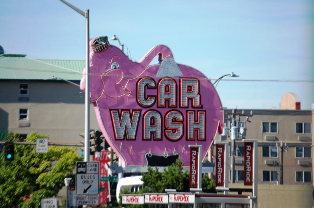 Always love my Pink Elephants...this time in the form of a Car Wash!