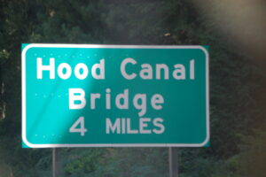 Hood Canal Bridge sign