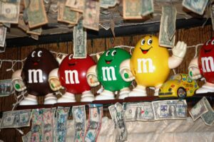 M&M Memorabilia abounds in the shop's second room