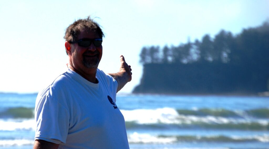 On the Pacific Coast at Neah Bay, the most northwestern point in the contiguous United States