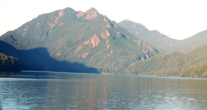 Washington's Lake Crescent and Mount Storm King in the background