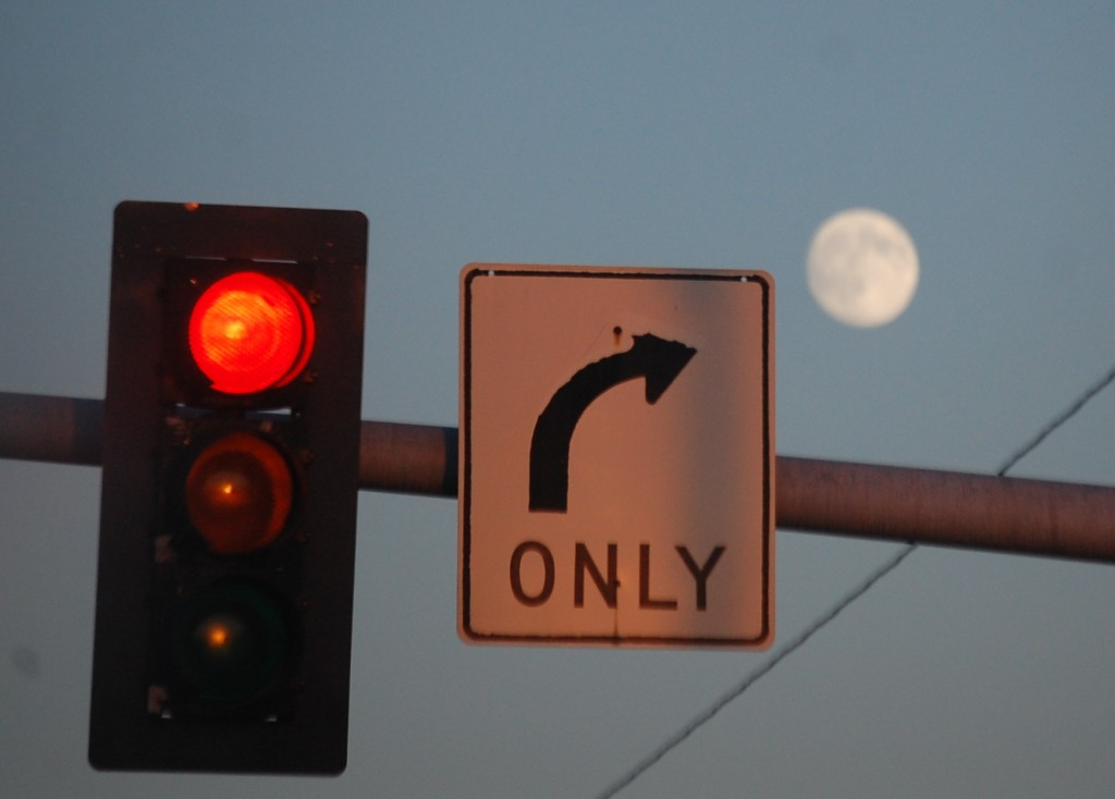 Full moon over Port Angeles...kind of liked this unusual view