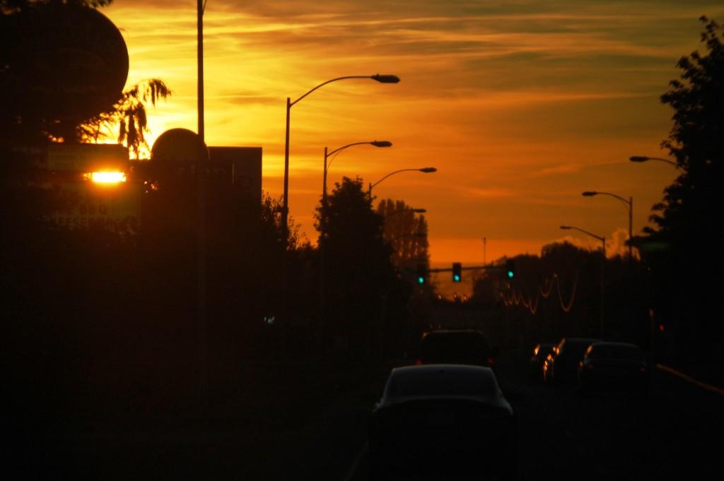 Sunset in Port Angeles, WA
