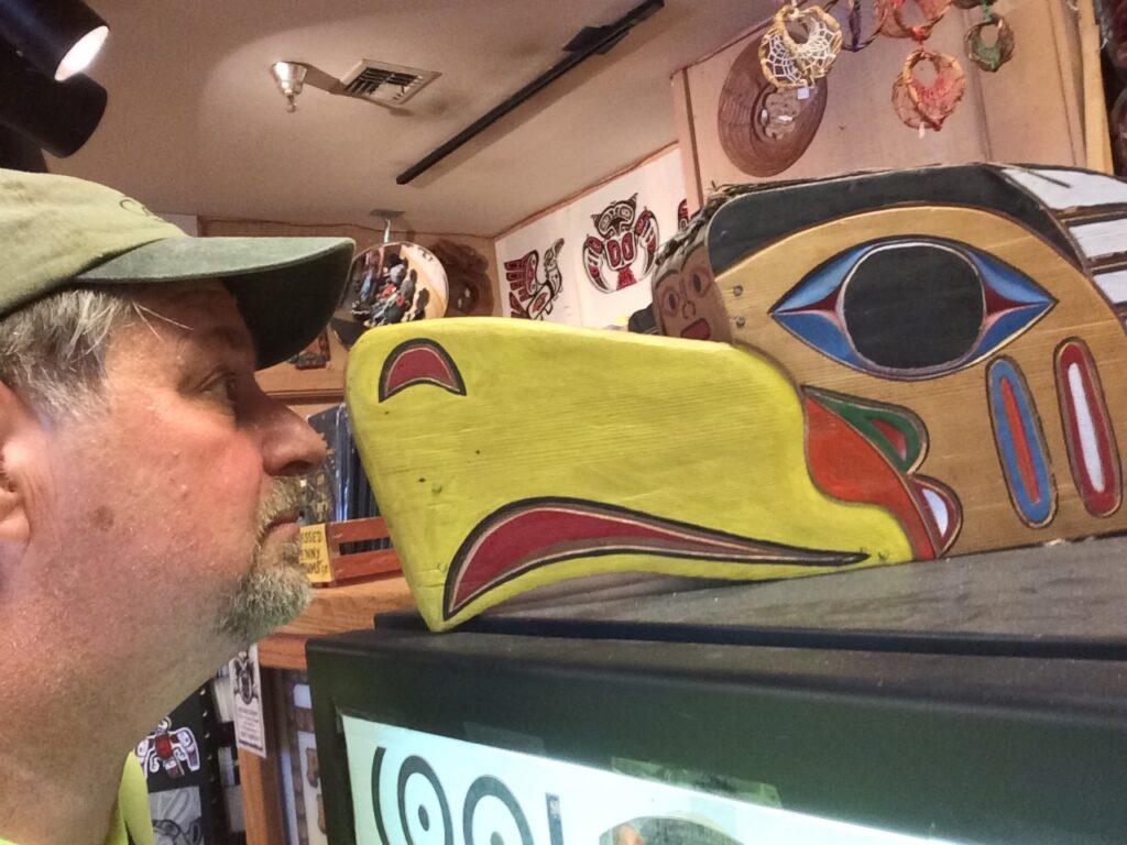 A stare down in Ye Olde Curiosity Shop
