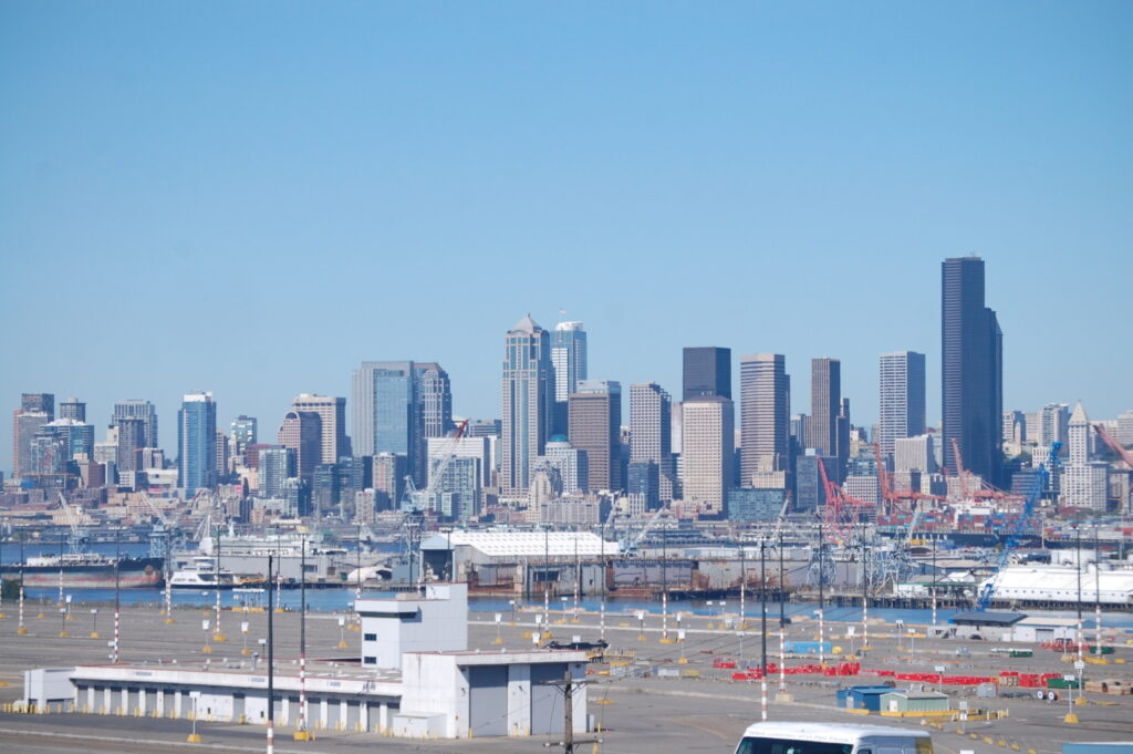 A shot of the Seattle skyline