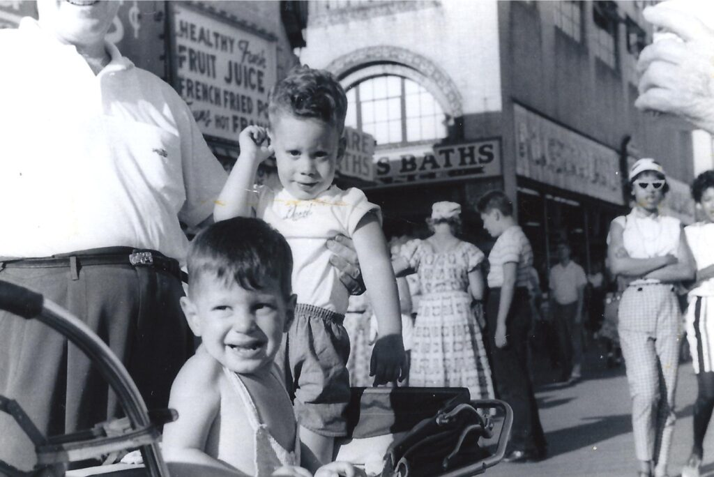 In New York City as a young boy ca. 1959