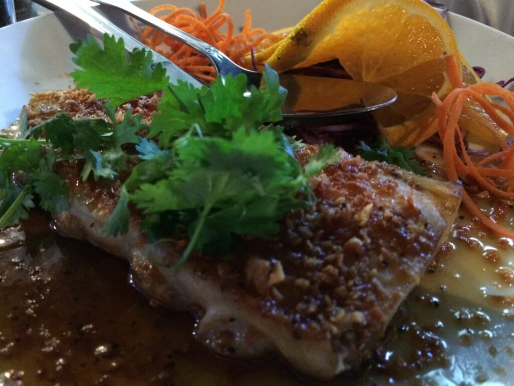 Grilled Salmon Curry at Tangerine