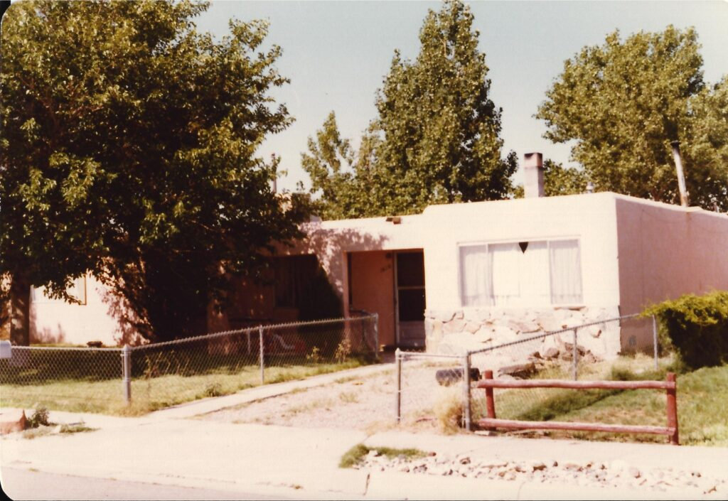 Our house in Albuquerque. I took this photo on a visit back there in the 1970s