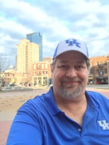 At home in Lexington, KY - home of the UK Wildcats