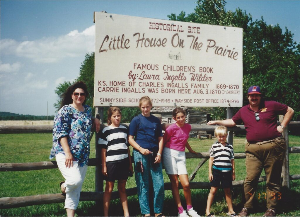 Little House on the Prairie in Eastern Kansas with the family in 1993