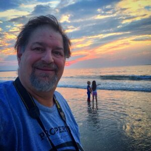 Morning sunrise with the grandkidz on Old Orchard Beach in maine