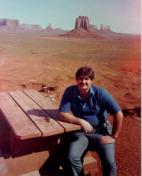 At Monument Valley in Utah in 1982